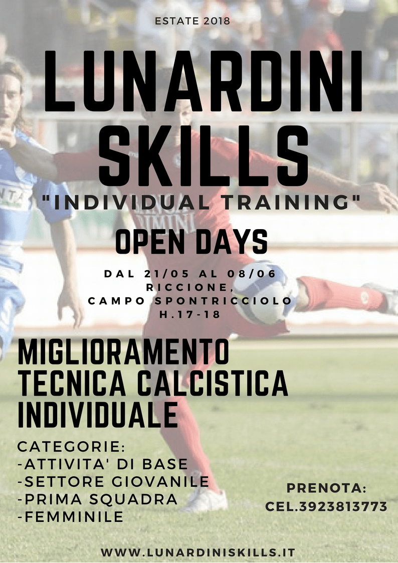 Lunardini Skills - Open Days